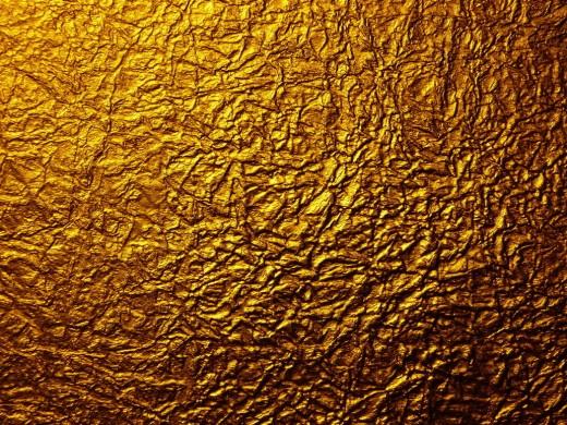 Gold Metal Wrinkled Paper