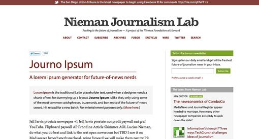 Journo Ipsum