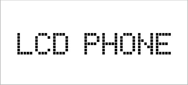 Digital LED Banner Fonts