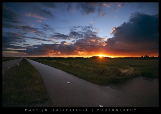 Last Light over the Polder