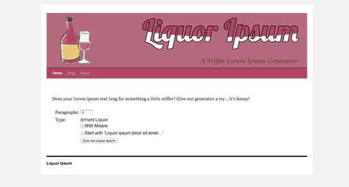 Liquor Ipsum