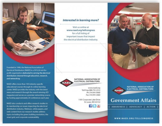 NAED Government Affairs Tri-Fold Brochure