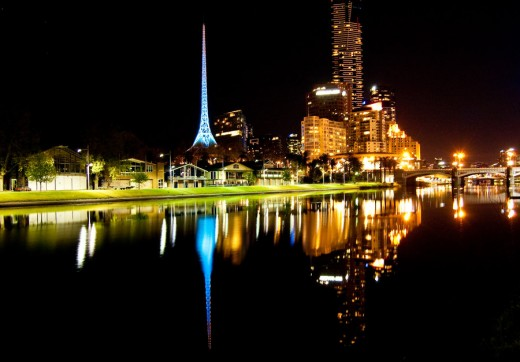 Night Across the Yarra