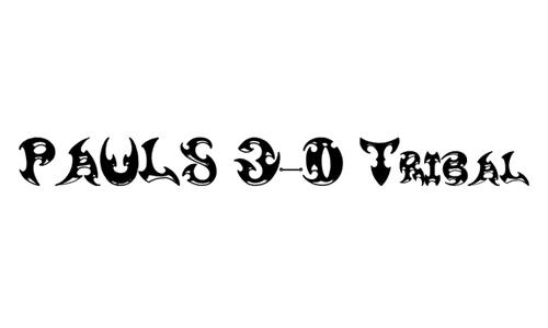 Pauls 3-D Tribal
