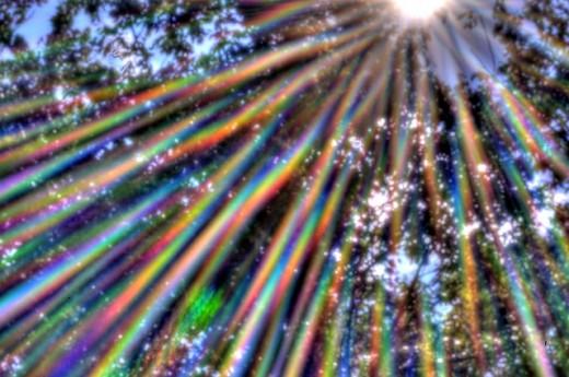 Pinhole Rainbows - HDR