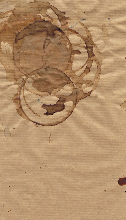 Stained Parcel Paper