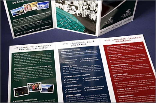 The Language Club Tri-Fold Brochure Design