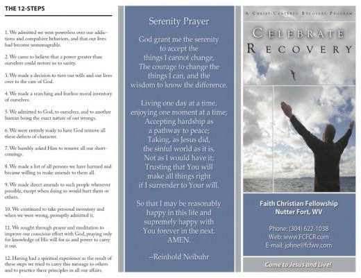 Tri-fold Brochure (Celebrate Recovery)