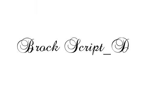 Brock Script_D font