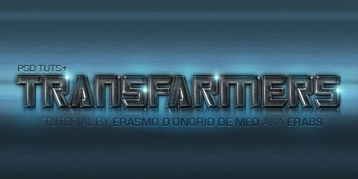 """Create a """"Transfarmers"""" Text Effect Using Layer Styles in Photoshop"""