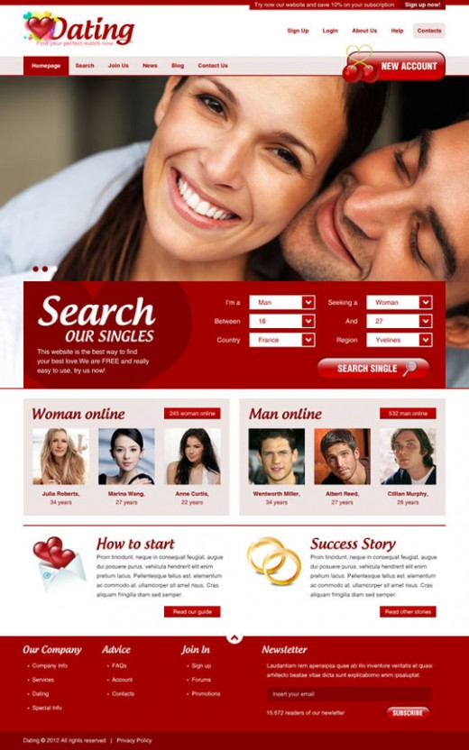 How To Design a Dating Website