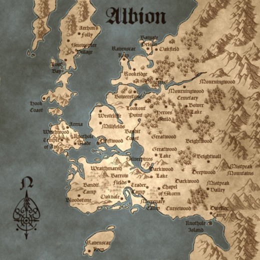Fable Combined Illuminated Map