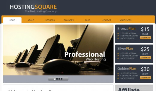HostingSquare - Hosting WordPress Theme