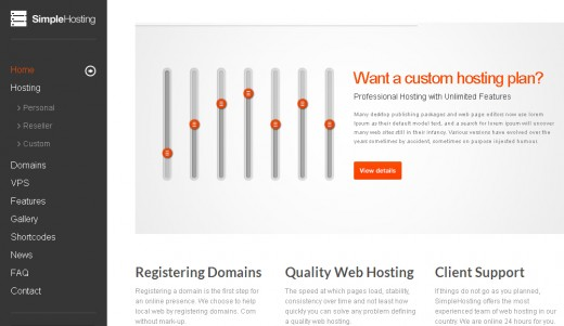 Simple Hosting - Modern WordPress Theme