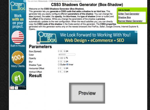 CSS3 Drop Shadow Generators