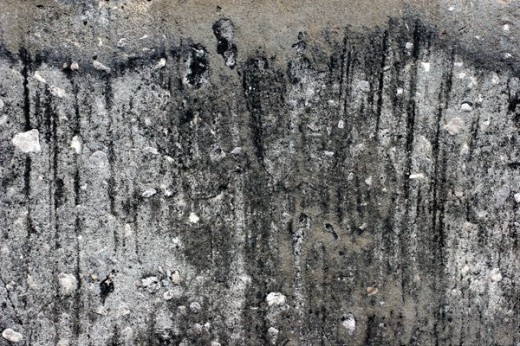 Eroded Concrete Surface