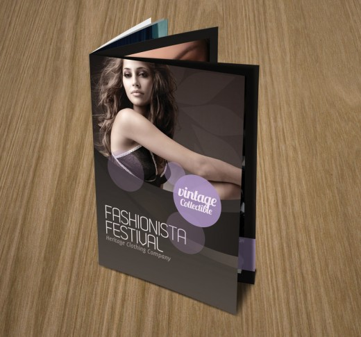 Fashionista Vintage Brochure