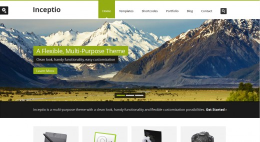 Inceptio - Responsive Multi-Purpose HTML Template