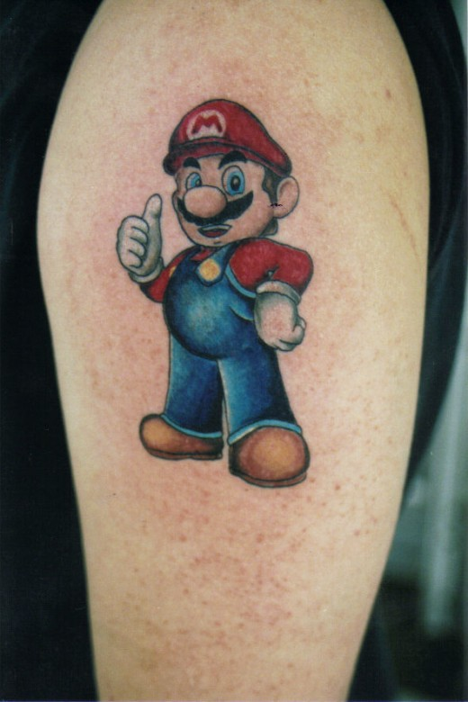 Mario Tattoo Design