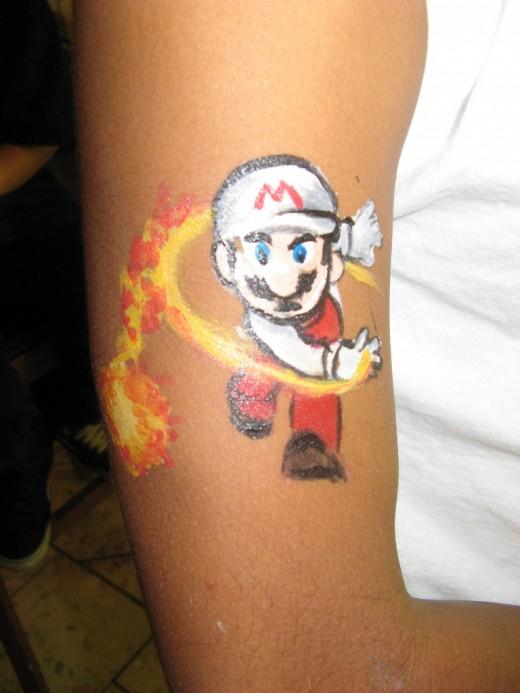 Mario Temporary Tattoo