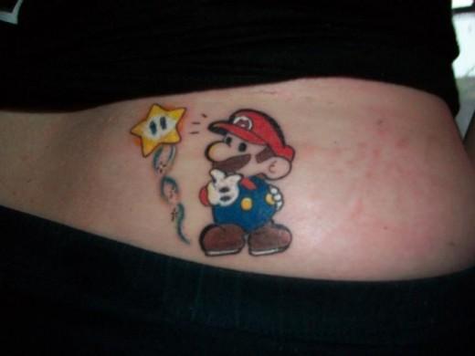 Paper Mario Tattoo