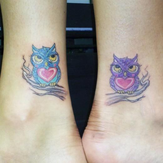 Friendship Tattoo Owls