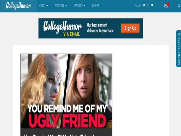 collegehumor - Funny Website Designs