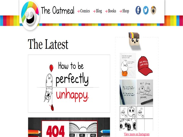 the-oatmeal - Funny Website Designs
